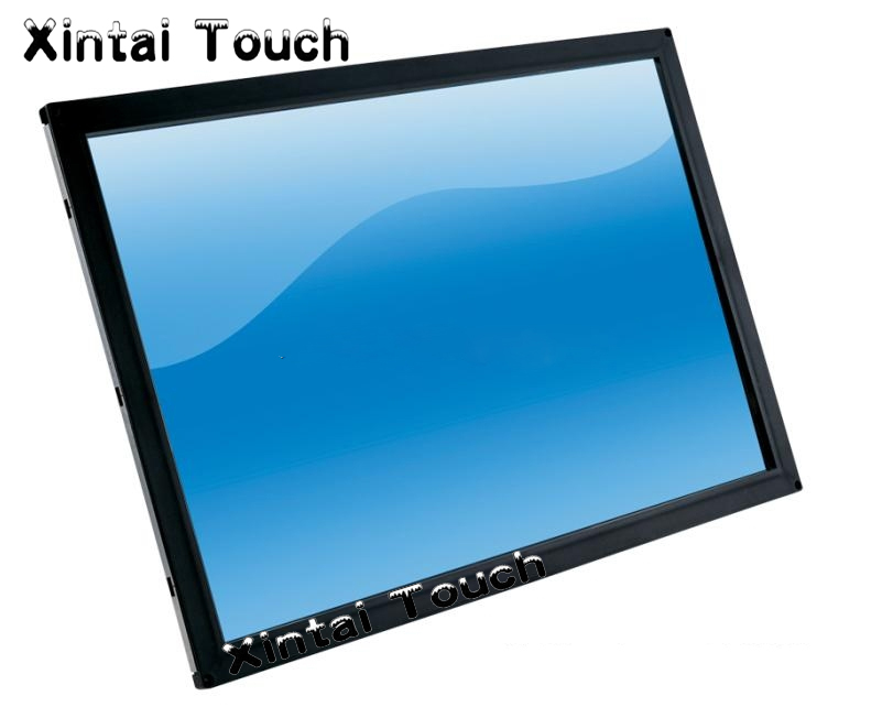 65'' 2 points touch screen panel kit usb / ir touch overlay for all in one PC computer,touch TV,etc, driver free, plug and play one touch go play