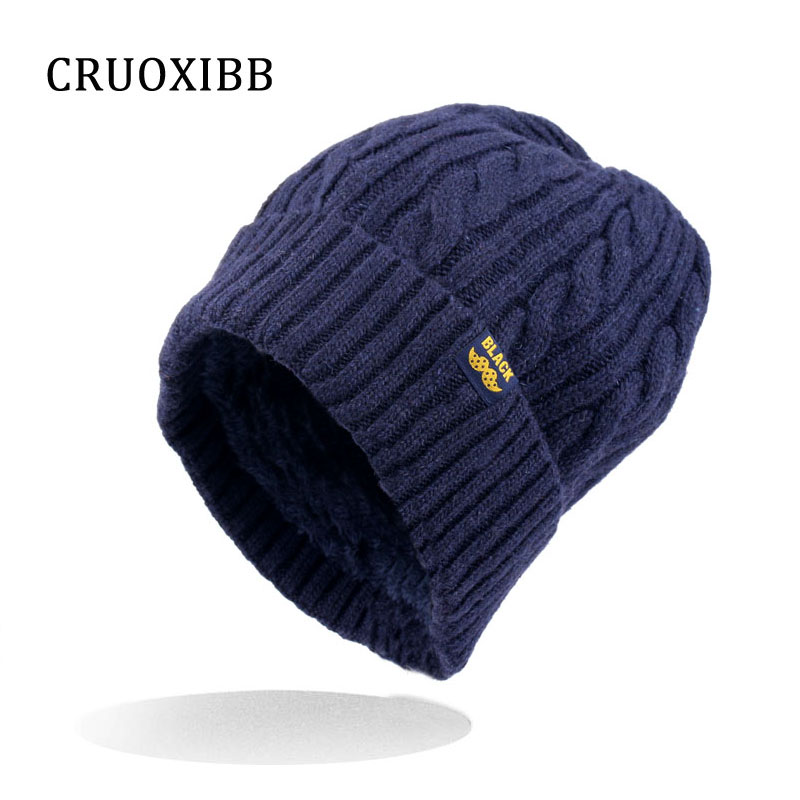 CRUOXIBB Women Winter warm Wool Knit Hats Autumn Fashion s