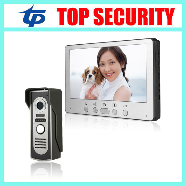 Good quality village 7inch video door phone door intercom 7 night version color screen door access control video door bell exported quality screen printing frame 7 5x10 inch 19x25cm wholesale price door to door