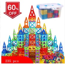 238pcs Magnetic Blocks Magnetic Designer Building Construction Toys Set Magnet Educational Toys For Children Kids Gift 78pcs magnetic building blocks toys diy models magnetic designer learning educational plastic bricks children toys for kids gift