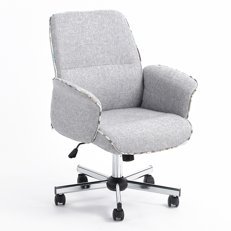 Swivel Office Chair Imitation Linen Executive Chair Dropshipping dropshipping