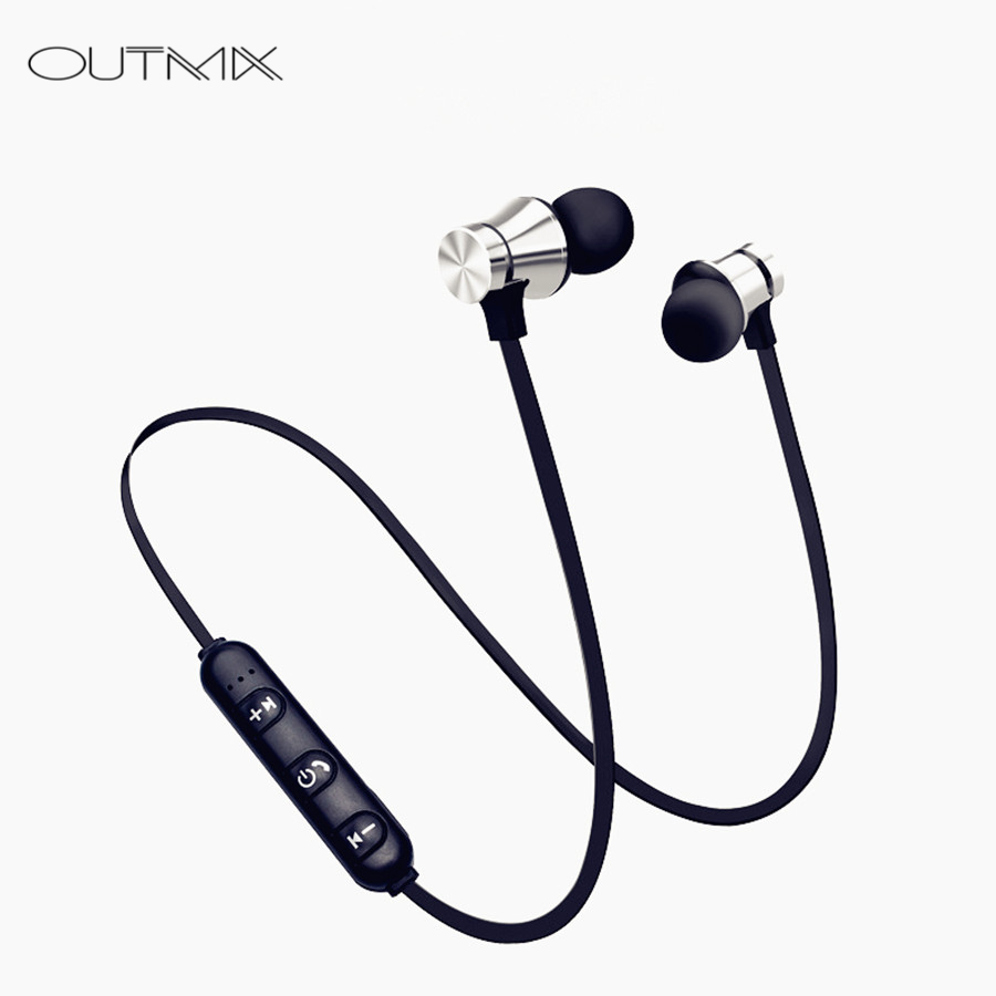 OUTMIX Neckband Bluetooth Kopfhörer Drahtlose kopfhörer Für Xiaomi iPhone ohrhörer stereo auriculares fone de ouvido mit MIKROFON