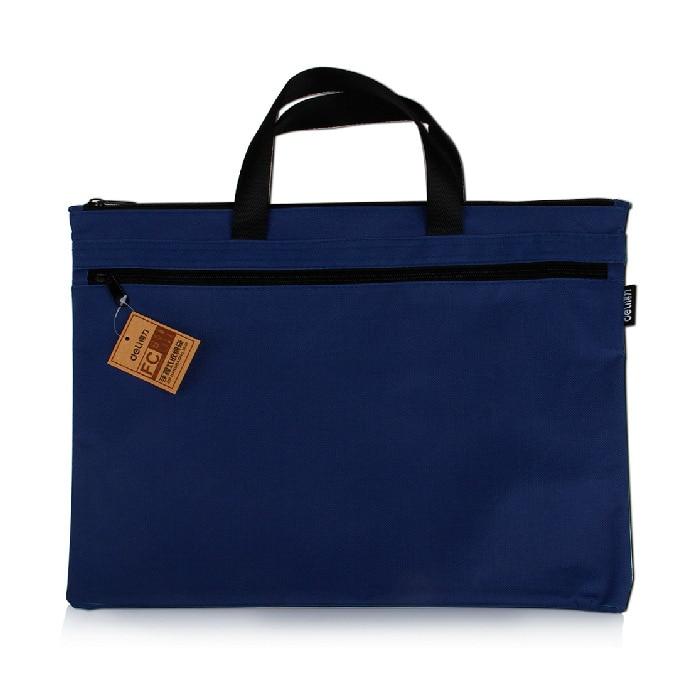 5840 Document Bag A4 Office Supplies Zipper Information Bag Women's Canvas Handbag Men's Briefcase