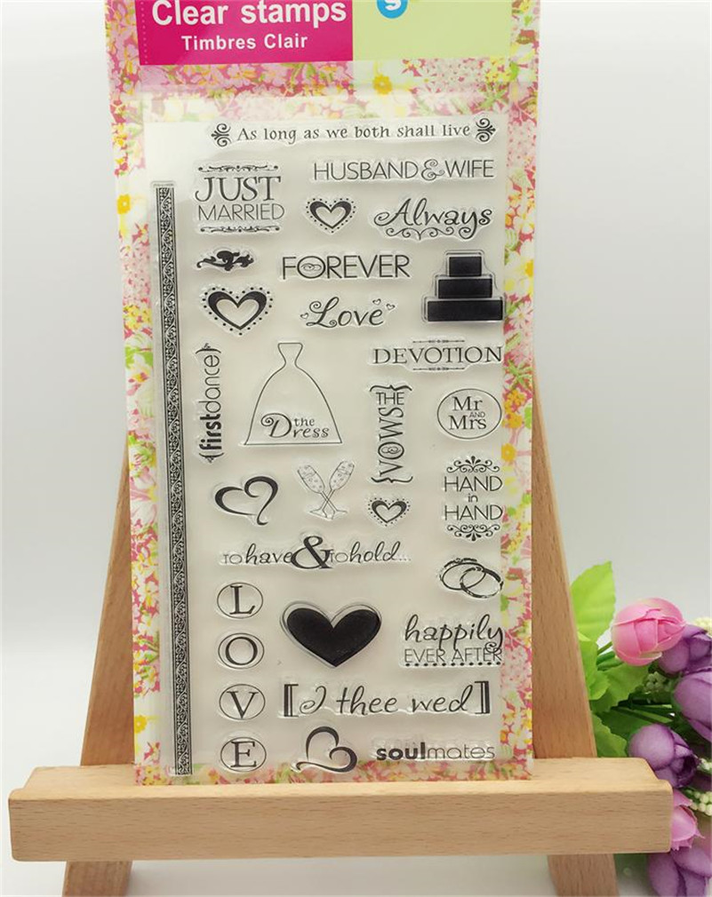 forever love married wedding design Transparent Clear Silicone Stamp Seal for DIY scrapbooking photo album  LL-252 lovely animals and ballon design transparent clear silicone stamp for diy scrapbooking photo album clear stamp cl 278