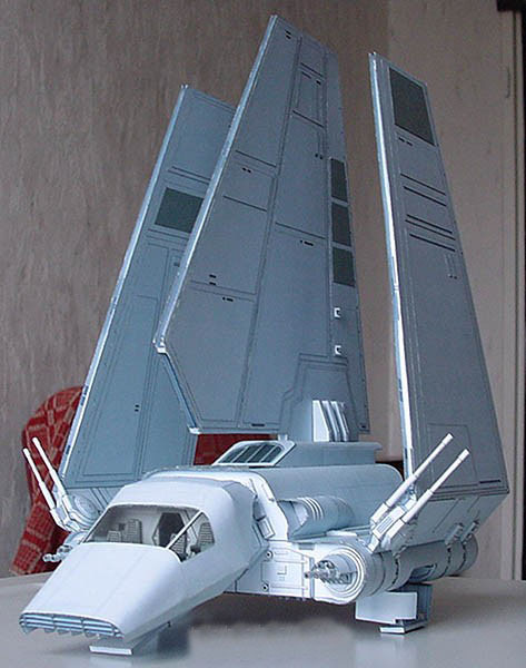 3D Paper Model Star Wars Spaceships Empire Lambda Shuttle Airplane Handmade Toy