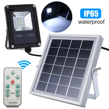 10W LED Solar Sensor Lamp Floodlight Light Waterproof IP66 Outdoor Emergency Security Garden Street