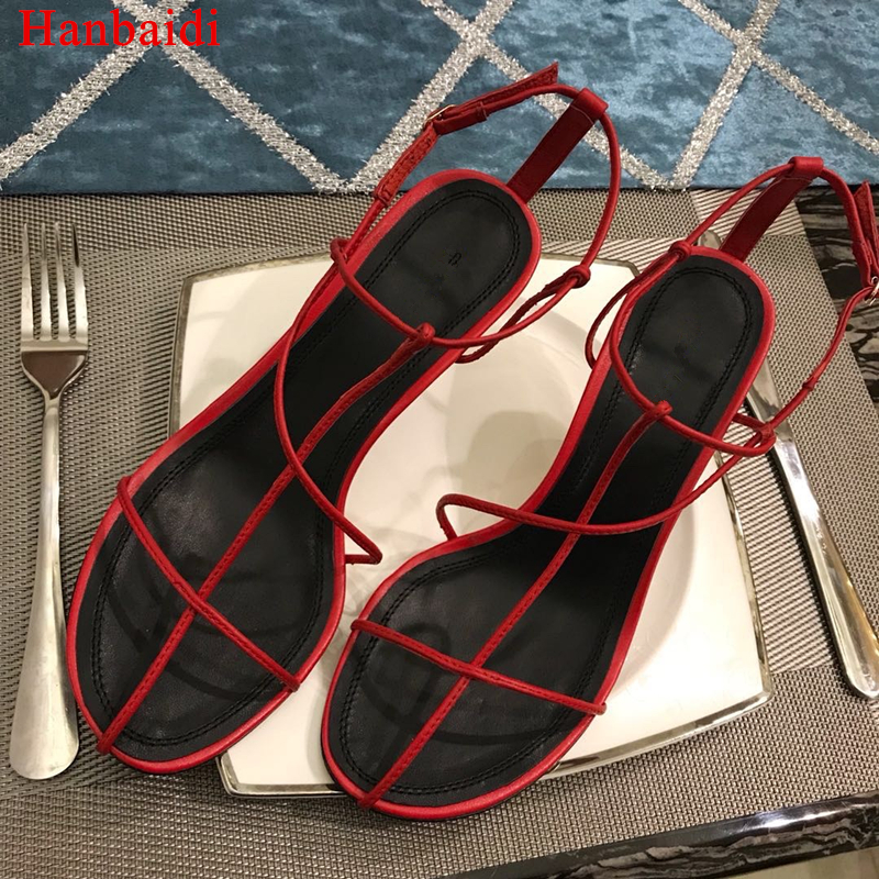Hanbaidi Women Summer Sandals Sexy Gladiator Sandals Woman Open Toe Narrow Band Cross-tied High Heel Shoes Runway Style Shoes 40 summer women high heel sandals super high thin heels cross tied narrow band open toe lace up women cutouts shoes black white