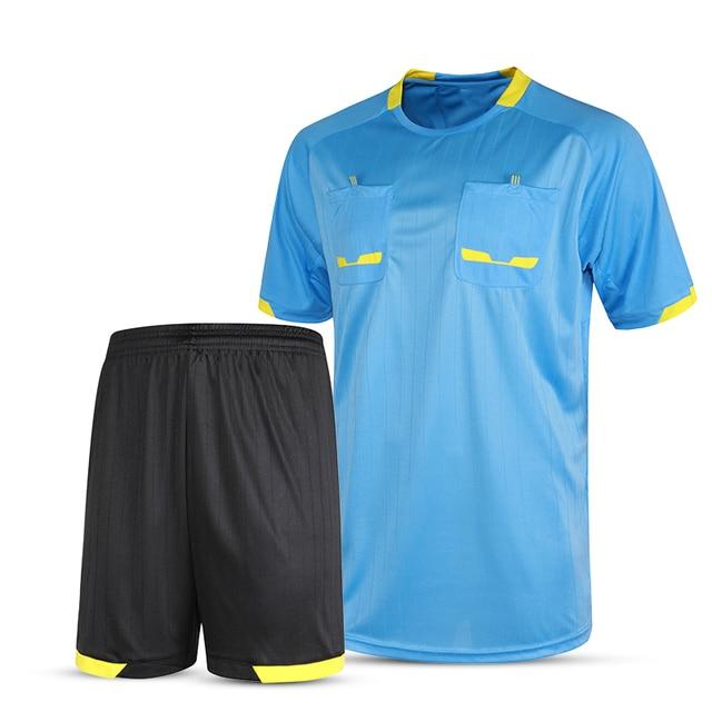 Camisas de futebol 2017 homens árbitro árbitro juiz treino tailândia  uniformes de futebol curtas de futebol 66d55d84670e9