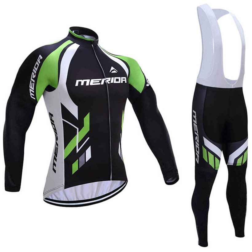 232472fd0 2017 Winter Thermal Fleece Merida Team cycling Ciclismo long sleeve  Breathable Cycling jersey clothes MTB Bicycle