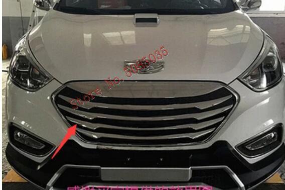 2009 2010 2011 2012 2013-2014 2015 For Hyundai Tucson Ix Ix35 ABS Chrome Front Grille Barbecue Season
