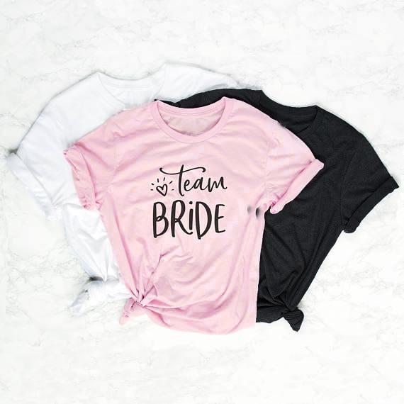 e98df2baa69e7a Team bride couple t-shirt camiseta rosa feminina bride squad weed clothing  pretty women fashion tees cotton graphic slogan tops