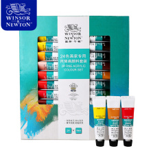 цена на Winsor&Newton Professional Acrylic Paints Set 12/18/24 Colors 10ML Hand Painted Wall Drawing Painting Pigment Set Art Supplies