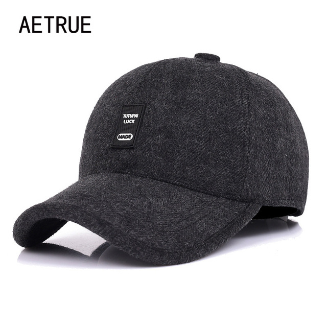 Aetrue SnapBack hombres gorra de béisbol sombreros para hombres marca hueso  hombre orejeras gorras casquette chapeau 1dac62680f4