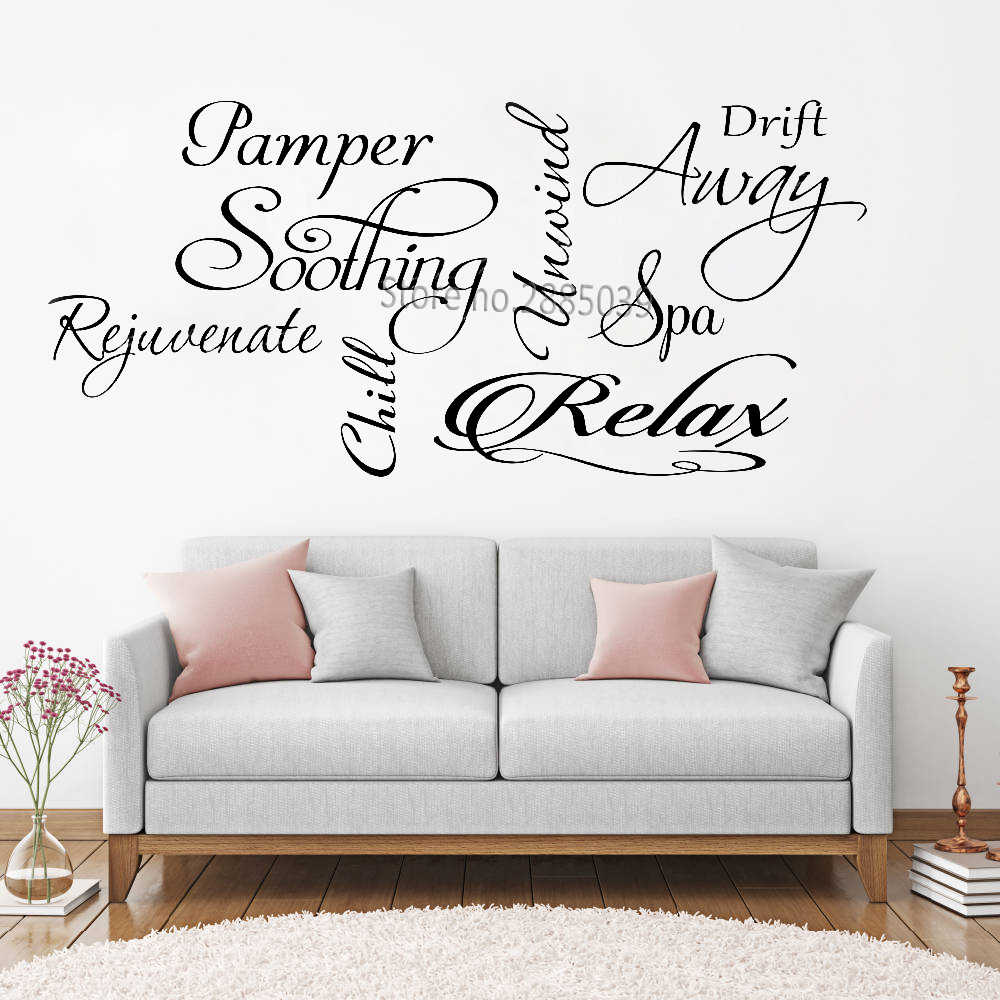 Words Art Collage Wall Decor Spa Decals