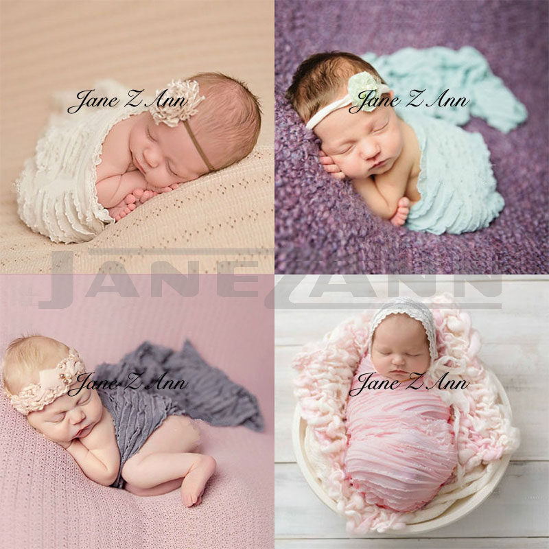 Jane Z Ann  Newborn Strech Wrap Nubble Wraps Swaddle Newborn Photography Props Blanket Baby Photo Shoot Props Picture Prop