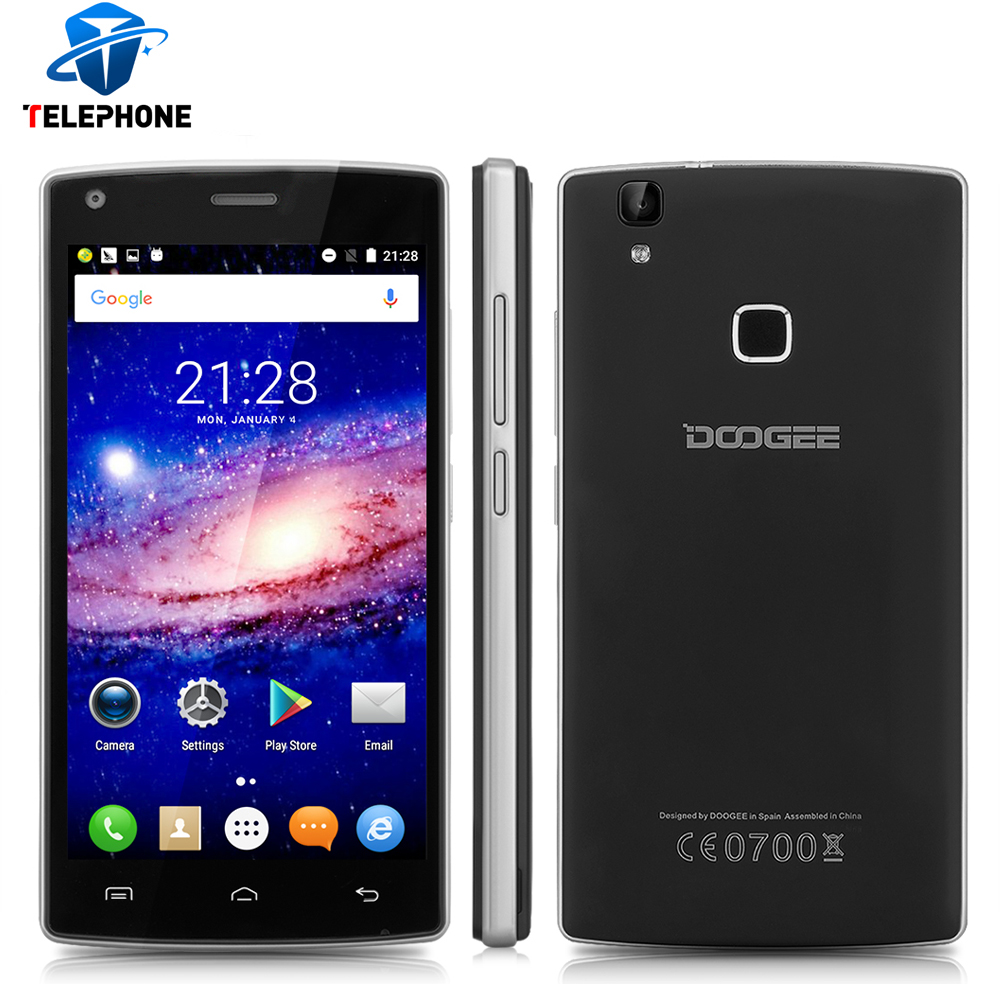 bilder für Original doogee x5 max fingerprint mtk6580 quad core 1 gb ram 8 GB ROM Android 6.0 Smartphone 5,0 Zoll 1280x720 3G Mobile telefon