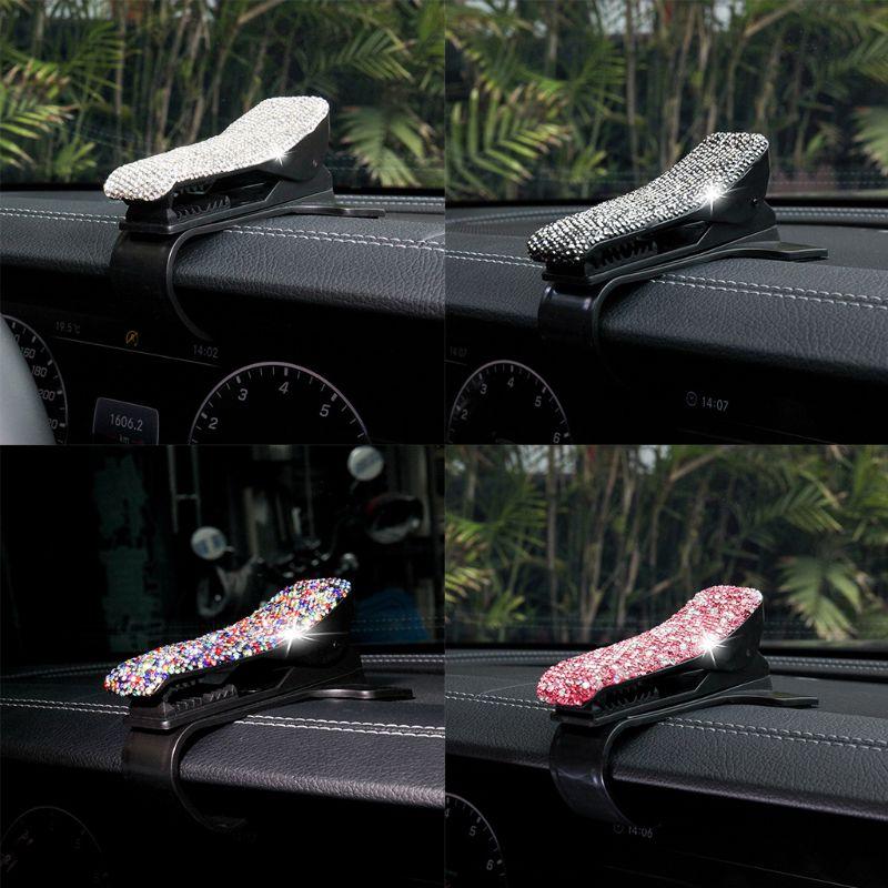 Universal Diamond Crystal Blingbling Car Phone Holder Dashboard Stand Hud Design Clip Smartphone Mobile Ph