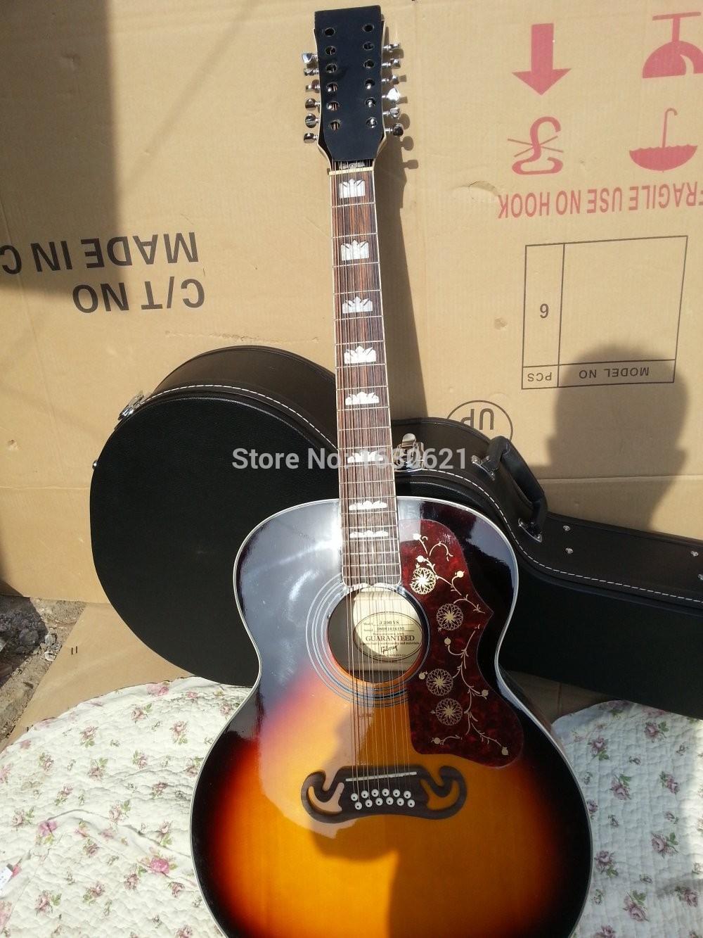 Online Shop 2015 New Factory 12 String J200 Acoustic Guitar VS Electric Super Jumbo Custom