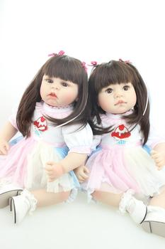 Silicone reborn baby doll toy for girl,