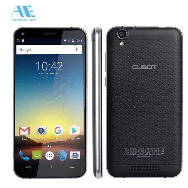 Оригинал cubot manito mt6737 mtk четырехъядерный процессор для android 6.0 сотовый телефон 5.0 дюймов fdd lte smartphon 3 ГБ оперативной памяти 16 ГБ rom мобильный телефон