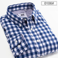2016 new arrive Casual Men Shirt Men's High Quality Brand Long Sleeve big man Plaid Shirt Dress Shirts Free Shipping