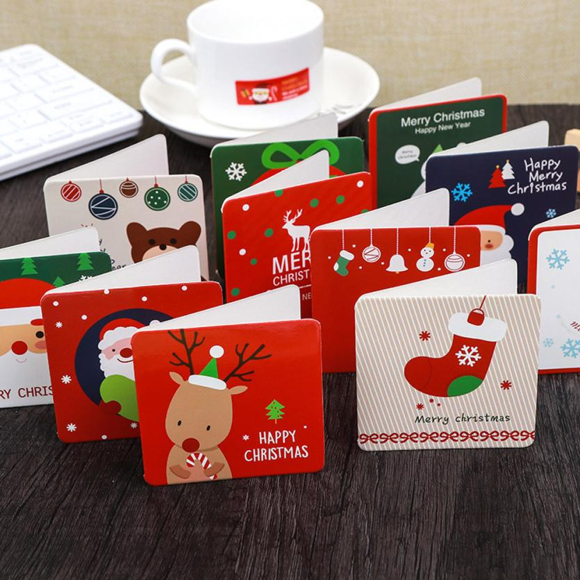 144pcs handmade merry christmas paper greeting card with