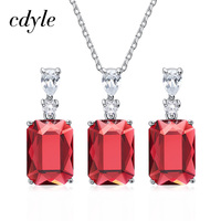 Cdyle Natural 925 Silver Jewelry For Women Embellished with crystals from Swarovski Earrings/Pendant/Necklace Mothers Day Gift