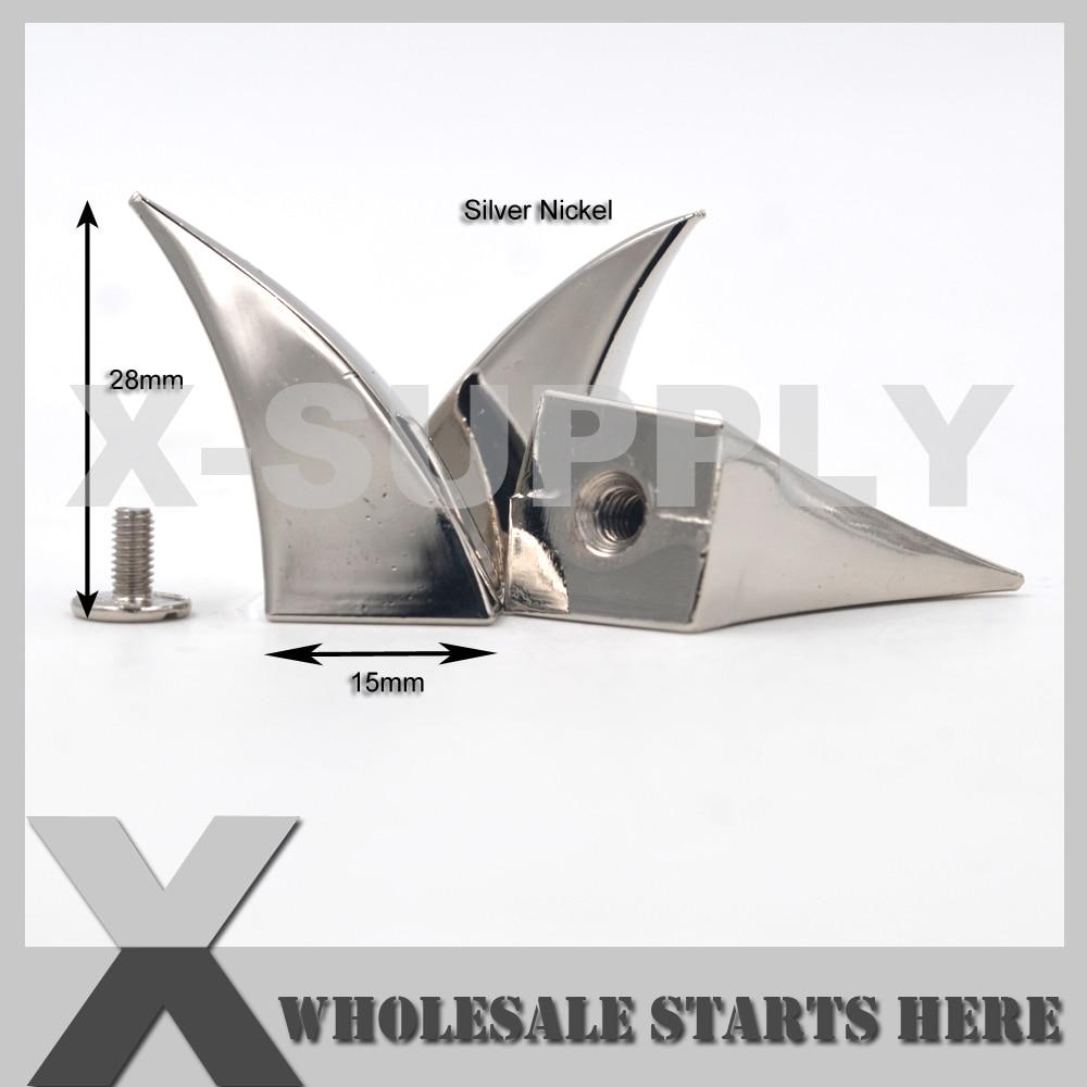 (15x28mm) pazur smoka srebrny śruba z powrotem Spike stadniny dla skóry Craft, dżinsy, czapki, buty w Nity odzieżowe od Dom i ogród na  Grupa 1