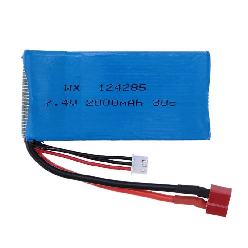 1 PCS Lipo Battery 7.4V 2000mAh 30C T/Banana Plug Upgrade Lipo Battery for Syma X8C X8W Quadcopter