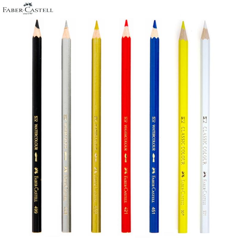 Lapices Faber Castell Watercolor Pencil Set Professional Black White Lapis De Cor Water Soluble Pastel Crayon