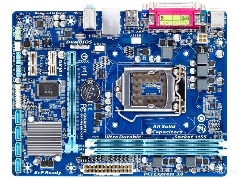 Оригинальный материнская плата для Gigabyte GA-H61M-DS2 DDR3 LGA 1155 H61M-DS2 рабочего Материнская плата Бесплатная доставка