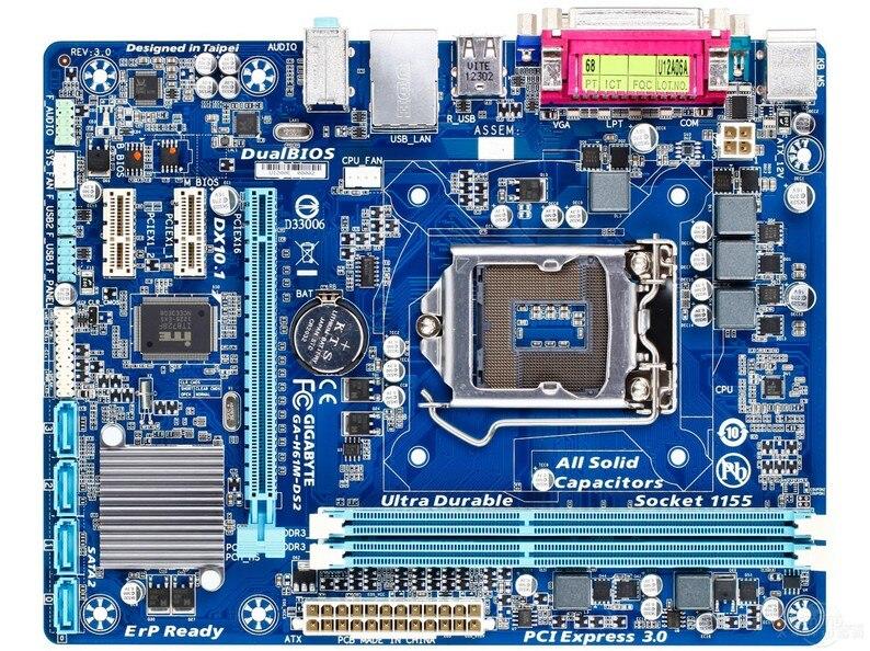 D'origine carte mère pour Gigabyte GA-H61M-DS2 DDR3 LGA11555 imprimante port COM port H61M-DS2 De Bureau carte mère Livraison gratuite