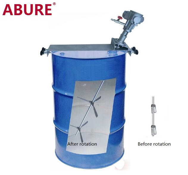 Air Powered 55 Gallon Drum Mixer