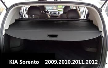 Rear Trunk Security Shield Cargo Cover For KIA Sorento 2009 2010 2011 2012 High Quality Trunk Shade Security Cover