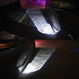 Image 2 - SRXTZM Partol 2 قطعة سيارة أجنحة الملاك ترحيب ضوء الظل مصباح إضاءة سيارة ليد الباب تحذير ضوء مصباح يناسب جميع المركبات