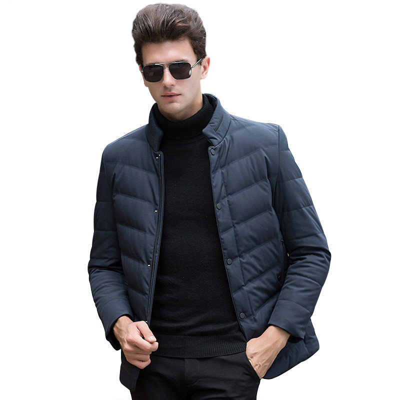 2017 White Duck Down Mens Winter Jacket Ultralight Down Jacket Casual Outerwear Snow Warm Stand Collar Brand Coat Hornor Shiny