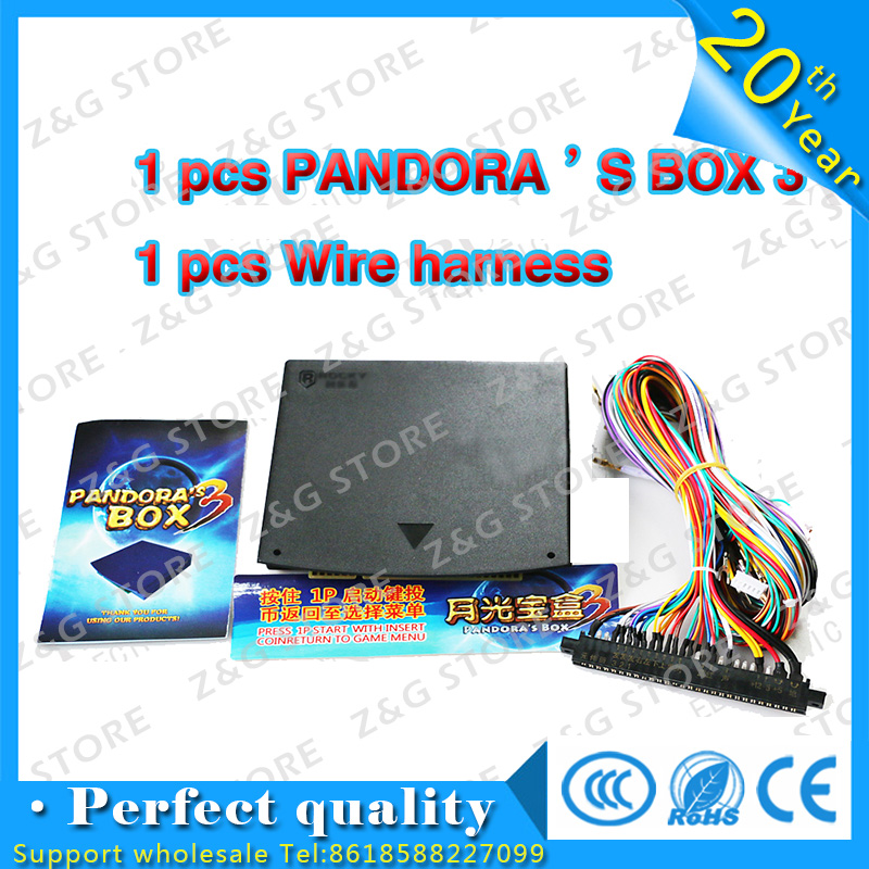 Z & G 520 en 1 boîte de Pandore 3 jamma arcade multi plateau de jeu et 28 broches Fil harnais pour BRICOLAGE arcade kits