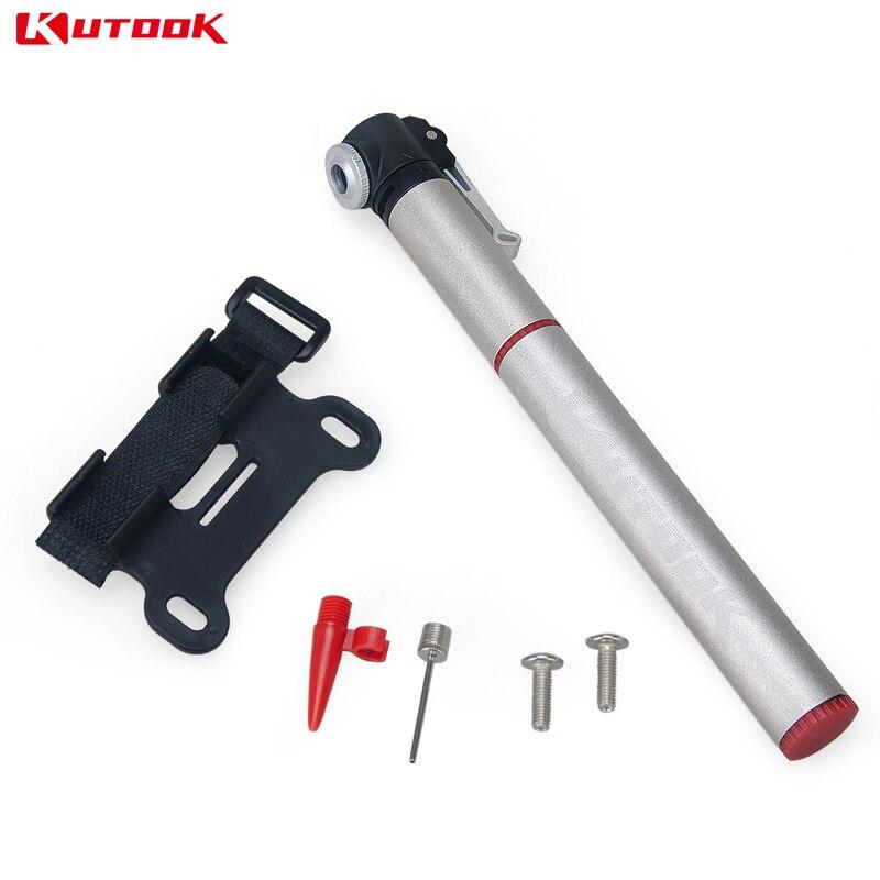 KUTOOK mini Bike Pump MTB Cycling Pump Aluminium Alloy Portable Bicycle Air Pump Bike Accessories KQ011