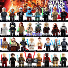 DR TONG 32pcs lot Blocks Luke Skywalker Qui Gon Jinn Death Star Robot Mace Windu Padme