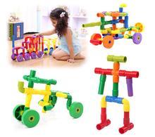 72 шт. детей водопровод матч строительные блоки / красочные самоконтрящаяся кирпичи туннель пластиковые детские развивающие игрушки