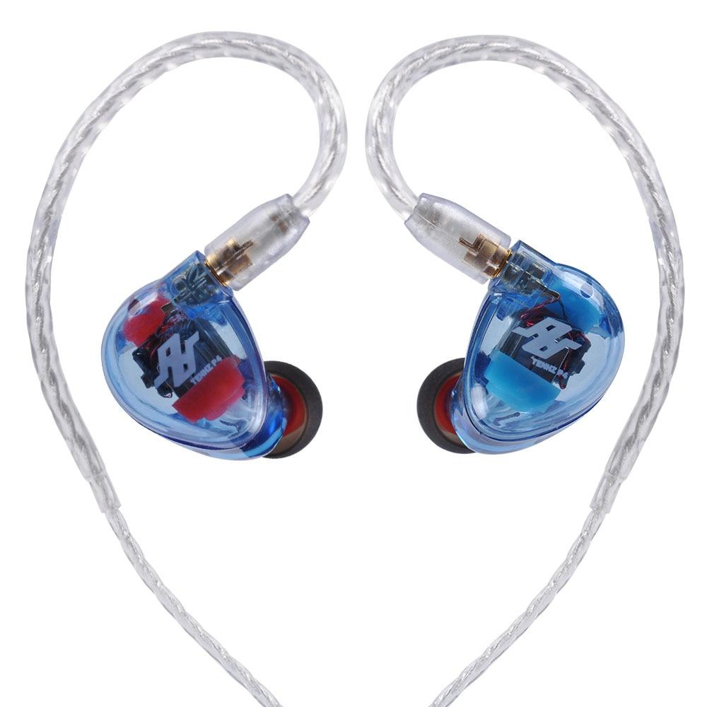 AK New TENHZ AUDBOS P4 4BA In Ear Earphone 4 Balanced Armature Headplug HiFi Monitor Headset