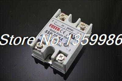 10pcs Solid State Relay SSR-75 AA AC-AC 75A/250V 80-250VAC/24-380VAC new and original fotek single phase ac solid state relay ssr 75aa 75a 24 380vac 80 250vac