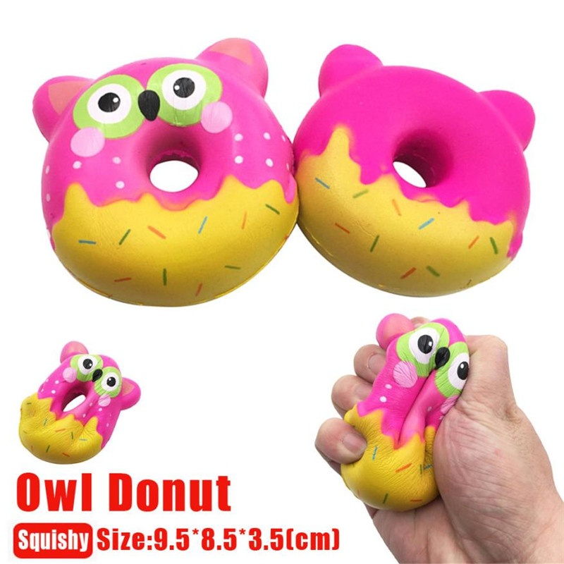 Cute Soft Mini Donut Cone Squeeze Cute Owl Donut Squeeze Slow Rising Cream Scented Decompression Cure Kids Toy Nice Gifts*20