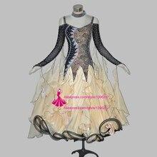 Standard Ballroom Dress Women Modern Waltz Tango Juvenile Dancing Wear Flamenco Ballroom Competition Dance Dresses