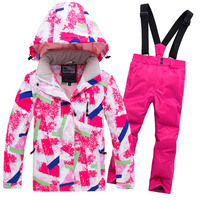 2019 Hot Sale Brand Boys/Girls Ski Suit Waterproof Pants+Jacket Set Winter Sports Thickened Clothes Children's Ski Suits 30
