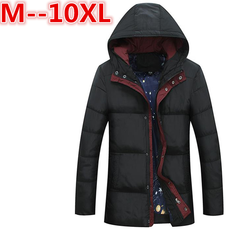 plus size 10XL 8XL 6XL Men Winter Casual New Hooded Thick Padded Jacket Zipper Loose Men And Women Coats Men Parka Outwear Warm free shipping winter parkas men jacket new 2017 thick warm loose brand original male plus size m 5xl coats 80hfx