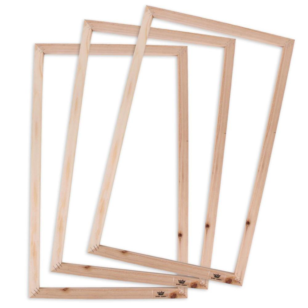 New wooden frames set for canvas art oil paintings for Framing canvas paintings