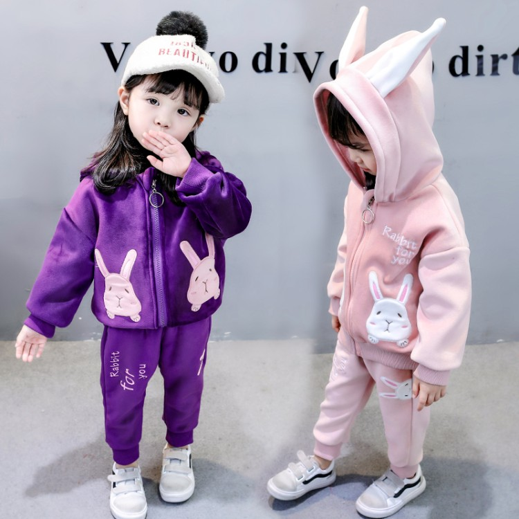 Anlencool Girls' suit 2018 new Korean version of fashion clothing Baby Athletic suit female 1-6 years girl autumn clothing set new autumn period and the star of a women s clothing stripe trench coat female suit shorts cultivate morality