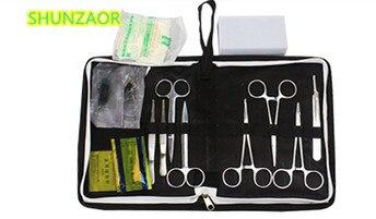 Медицинские товары со СПИДом 13 в 1 обучение хирургических инструментов Tool Kit/атравматические посылка комплекты комплект для студентов