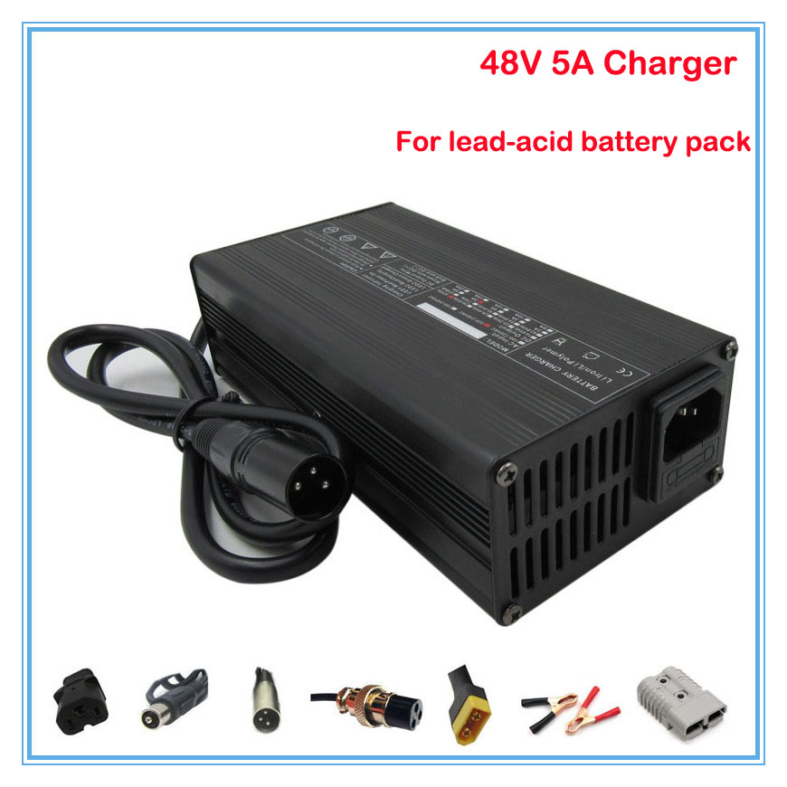 360W 48V 5A lead-acid battery <font><b>charger</b></font> 48V 20AH Electrombile Car <font><b>charger</b></font> <font><b>electric</b></font> bike e-scooter <font><b>charger</b></font> <font><b>golf</b></font> <font><b>cart</b></font> <font><b>charger</b></font> image